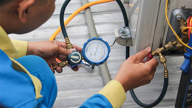 Kiểm tra đường ống và áp suất gas