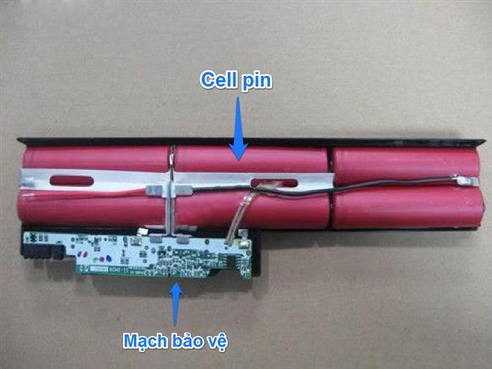 Cấu tạo của 1 cục pin laptop