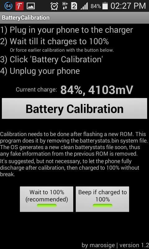 Dùng phần mềm Battery Calibration