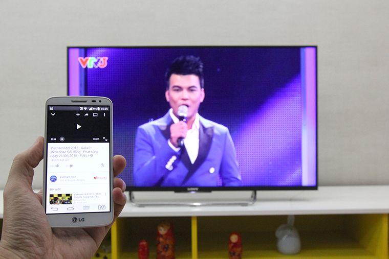 Chiếu YouTube từ điện thoại lên tivi