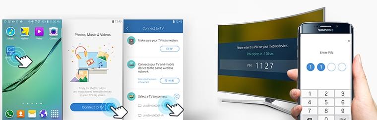 Giao diện chia sẻ dữ liệu của Samsung Smart View