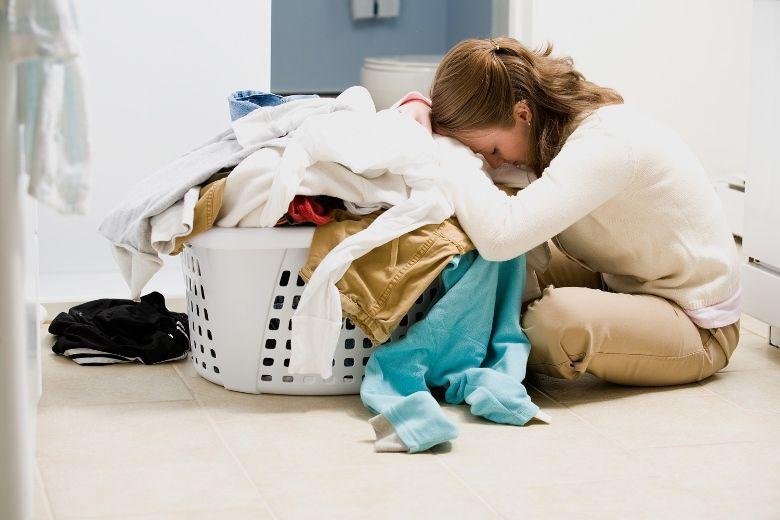 Giặt một lúc quá nhiều đồ có thể gây xơ vải