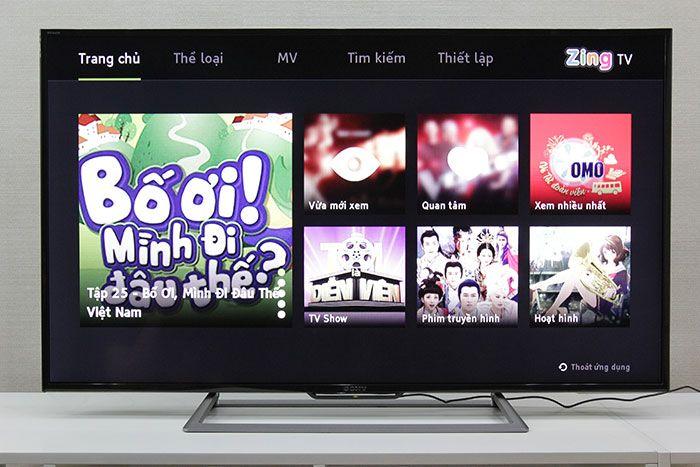 Vào thử ứng dụng Zing TV để kiểm tra kết nối mạng