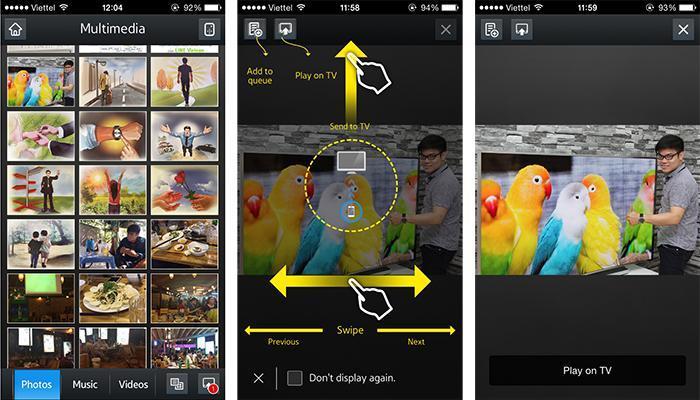 Giao diện chia sẻ dữ liệu của Smart View 2.0