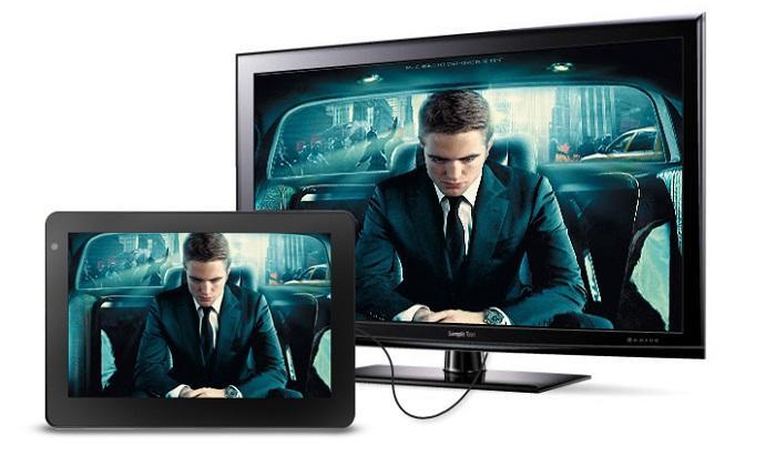 Kết nối tivi và máy tính bảng thông qua dây cáp MHL
