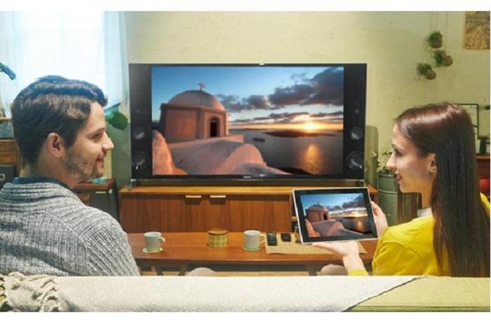 Tivi sẽ hiển thị nội dung trên màn hình máy tính bảng