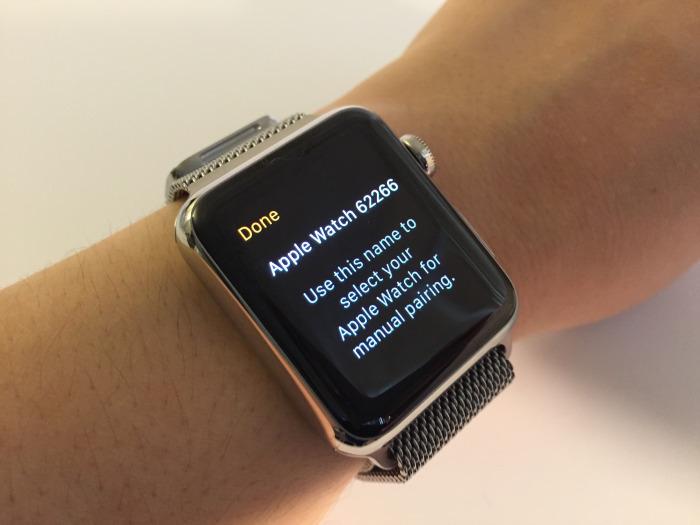 Trên Apple Watch chạm vào icon có biểu tượng