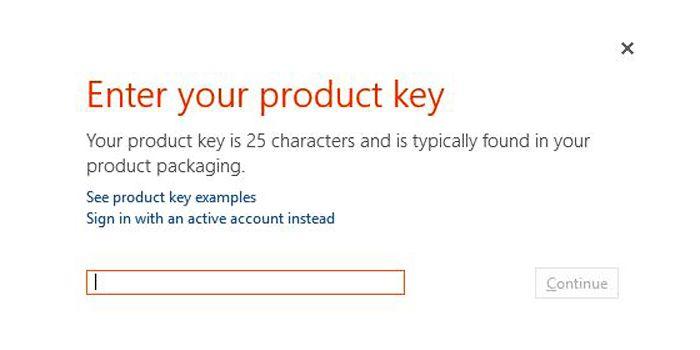 Tiến hành nhập 25 ký tự của mã kích hoạt bản quyền ứng dụng