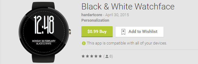 black-white-watchface