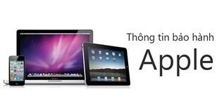 Chính sách bảo hành sản phẩm của Apple