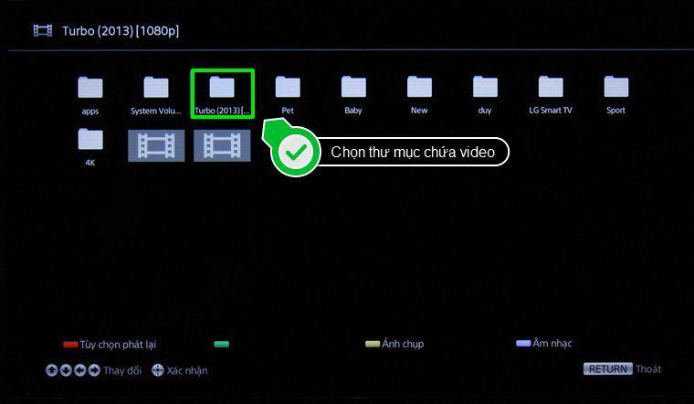 Chọn thư mục chứa Video