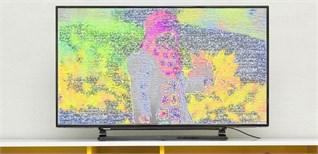 Màn hình Tivi bị sọc, nguyên nhân và cách khắc phục