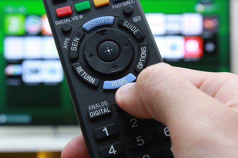 Bấm nút Home trên remote