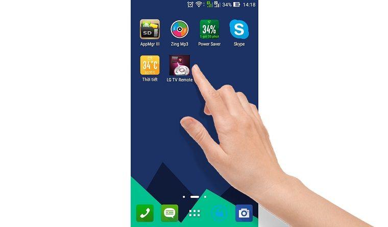 Khởi động ứng dụng LG TV Remote