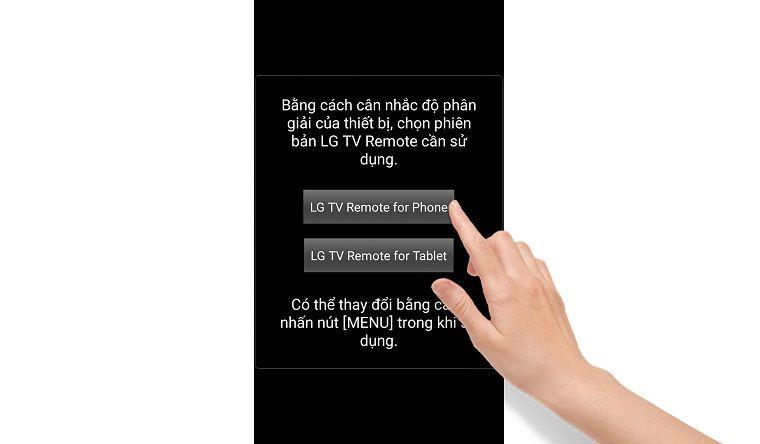 Chọn giao diện ứng dụng cho điện thoại