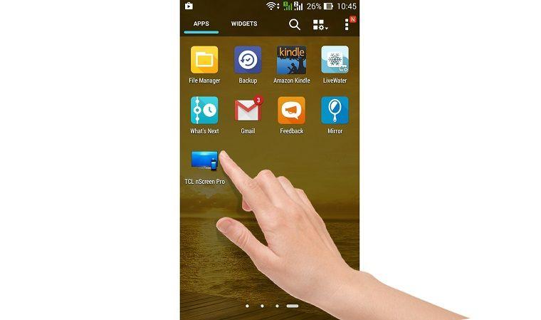 Khởi động ứng dụng TCL nScreen Pro