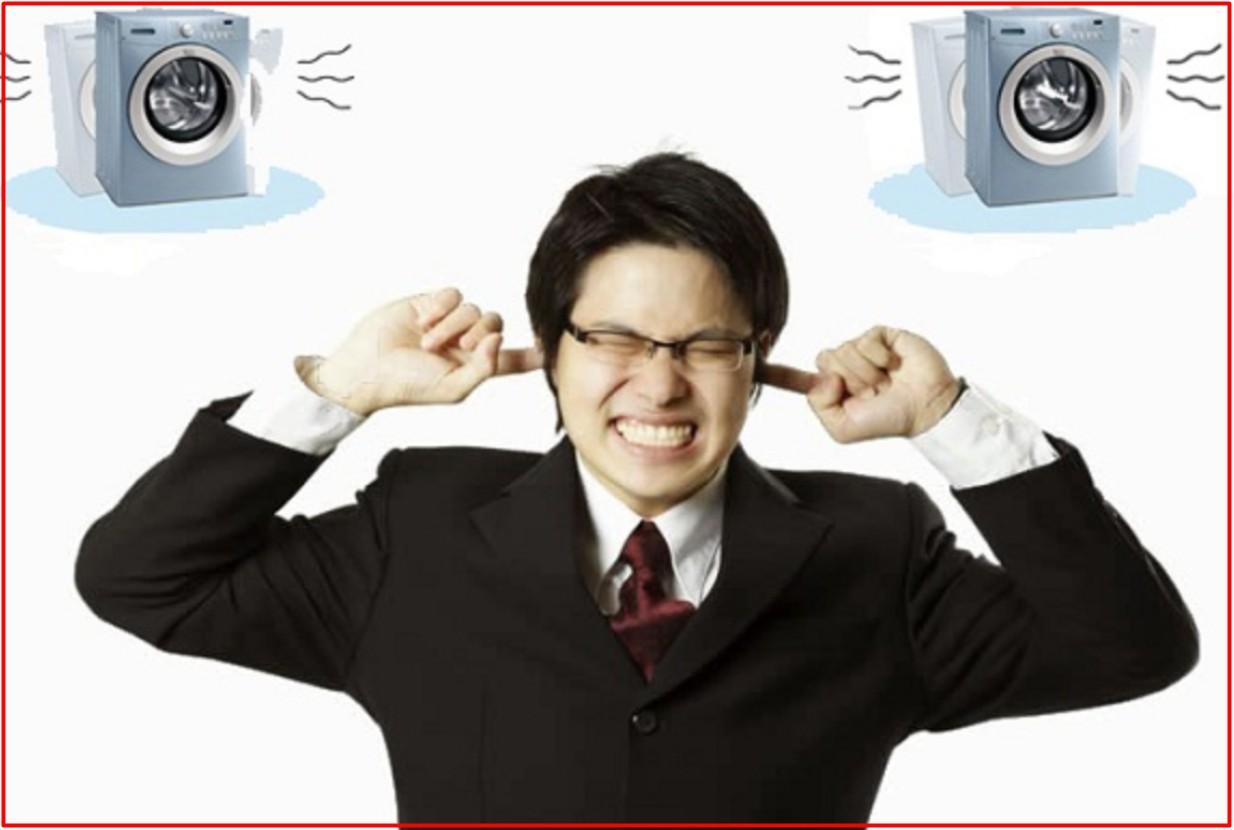 Máy giặt truyền động gián tiếp thường gây tiếng ồn và rung lắc nhiều