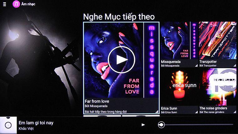 Tivi đang phát bài nhạc được chọn