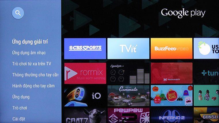 Giao diện Google play