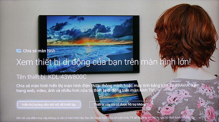 Giao diện chờ kết nối của tivi