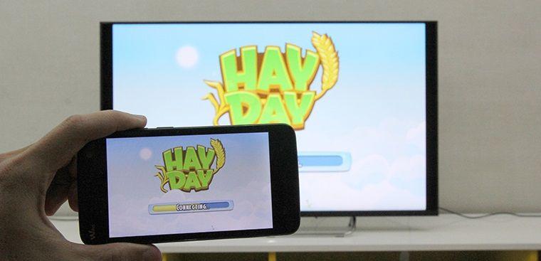 Cách phản chiếu hình ảnh từ điện thoại lên Android tivi Sony