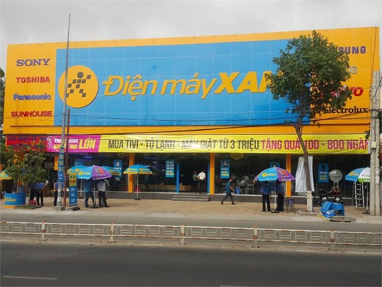 Siêu thị điện máy xanh tại 279 Ngô Gia Tự, Khu phố 5, Phường Tấn Tài, Thành phố Phan Rang – Tháp Chàm, Tỉnh Ninh Thuận