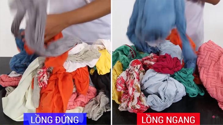 Quần áo giặt bởi máy giặt lồng ngang ít bị xoắn vào nhau hơn