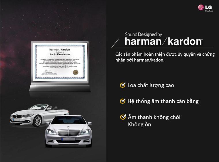 Công nghệ âm thanh được thiết kế bởi Harman/Kardon