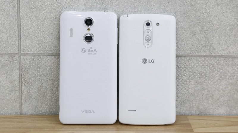 Pantech Vega Secret Up A900L và LG G3 Stylus