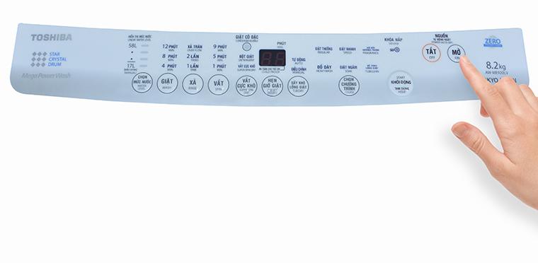 Cách sử dụng bảng điều khiển máy giặt Toshiba AW-E920LV và AW-ME920LV