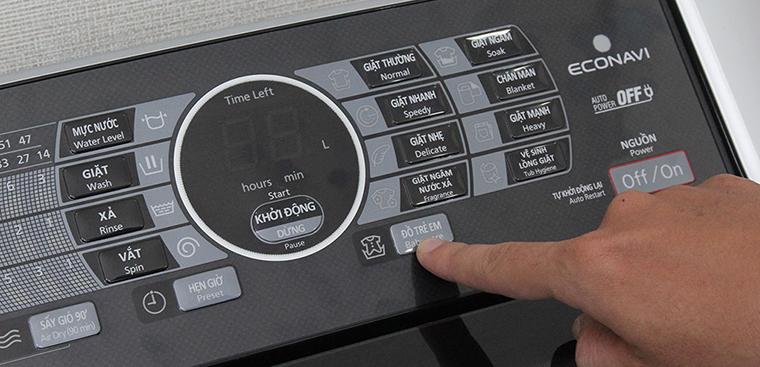 Cách sử dụng bảng điều khiển máy giặt Panasonic NA-F90X1LRV