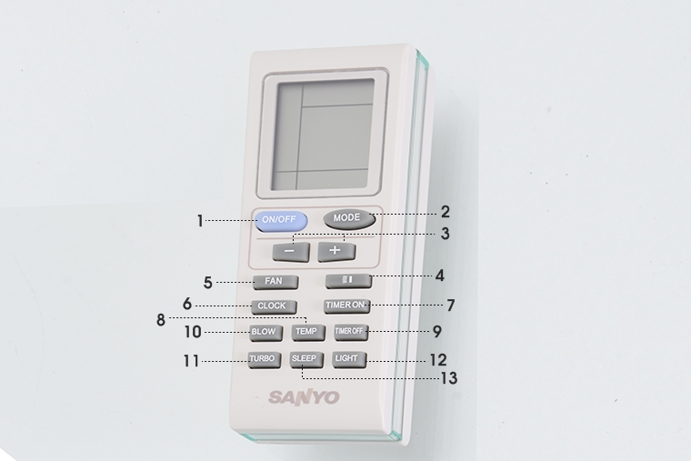 Điều khiển của máy lạnh Sanyo