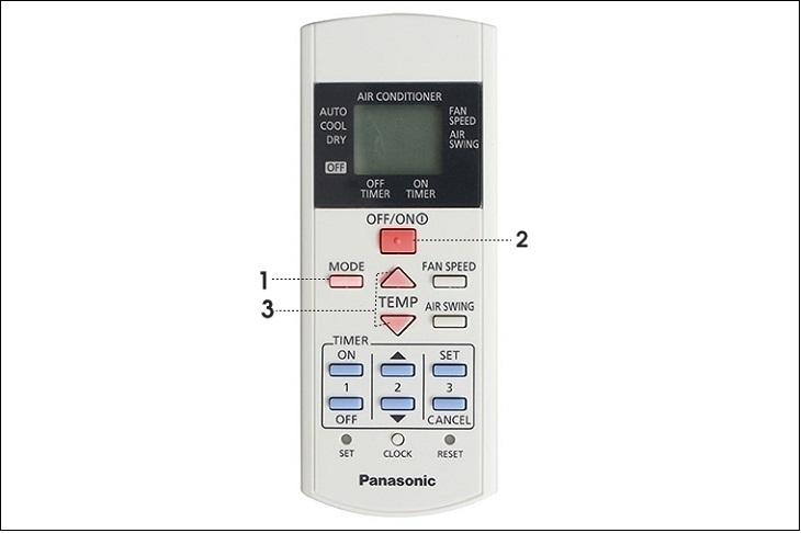 Thiết lập chế độ hoạt động chung của remote máy lạnh Panasonic
