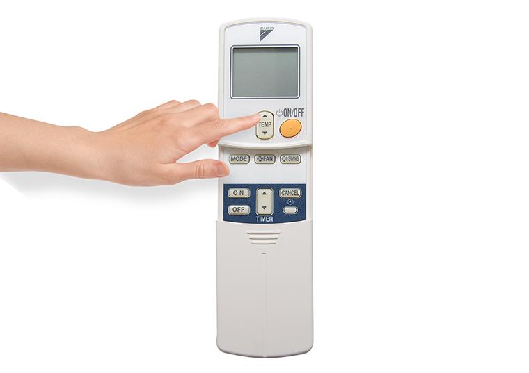 TEMP - Điều chỉnh nhiệt độ của máy lạnh.