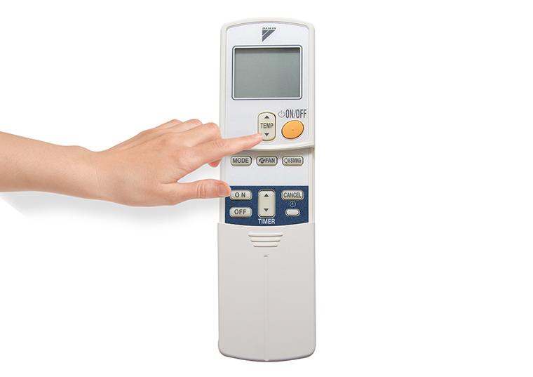 TEMP điều chỉnh nhiệt độ của máy lạnh.