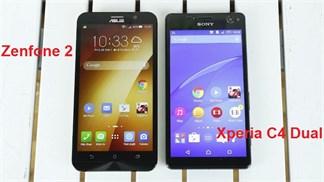 [Speedtest] Asus Zenfone 2 'đối đầu' Xperia C4 Dual về thời lượng pin