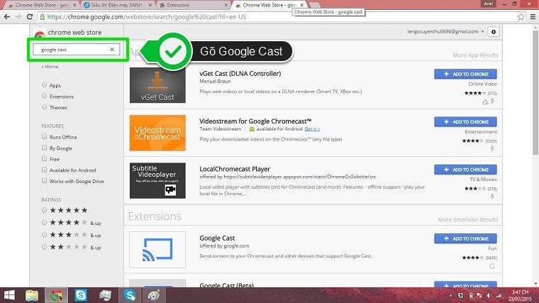 Mẹo sử dụng Google Cast để chia sẻ nội dung từ laptop lên tivi Sony