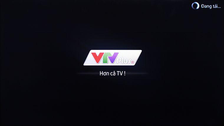 Giao diện màn hình chờ của ứng dụng VTVPlus