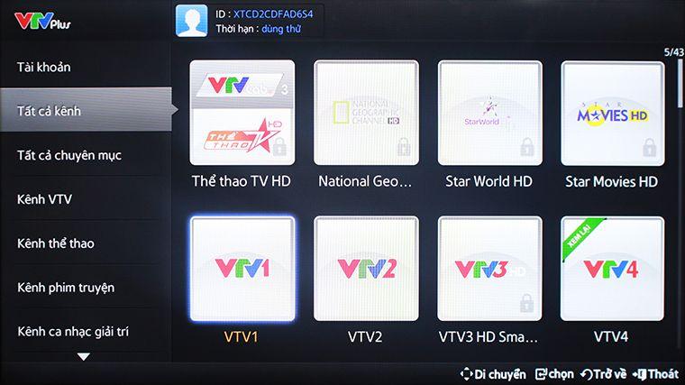 Chọn kênh VTV1