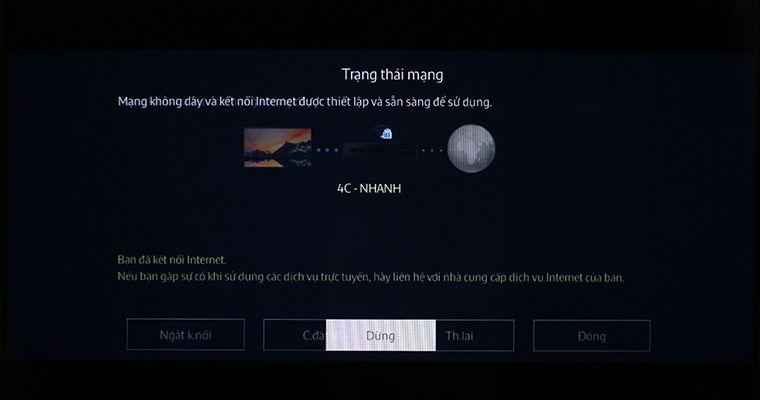 Mạng wifi đã được kết nối