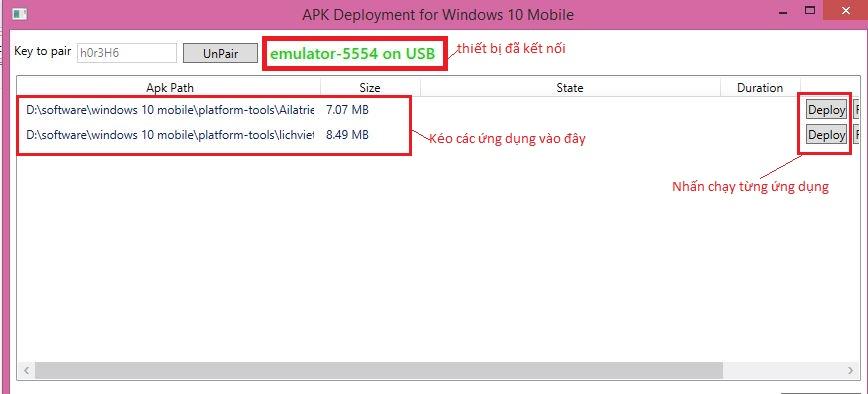 Cài đặt ứng dụng Android lên Windows 10 Mobile