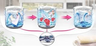 Công nghệ đấm nước 3 mâm phụ Punch +3 trên máy giặt LG