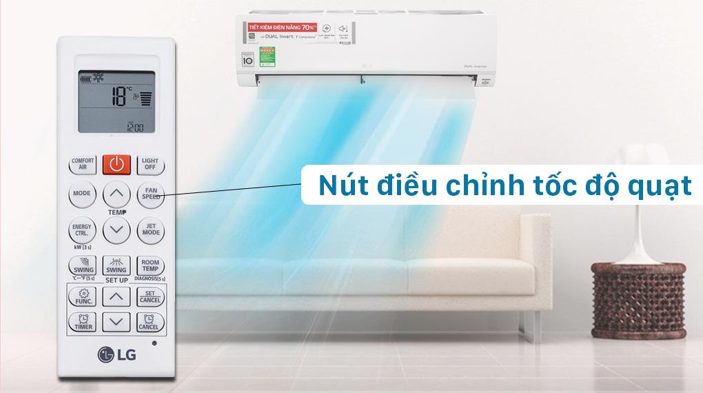 6 chế độ phổ biến trên các mẫu máy lạnh LG hiện nay