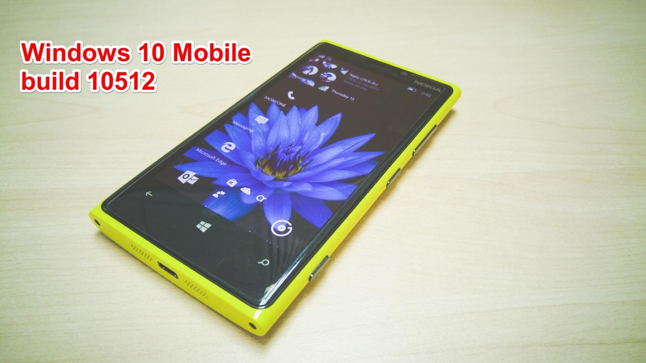 Microsoft đã phát hành  phiên bản Windows 10 Mobile build 10512 dành cho người dùng Insider. icon