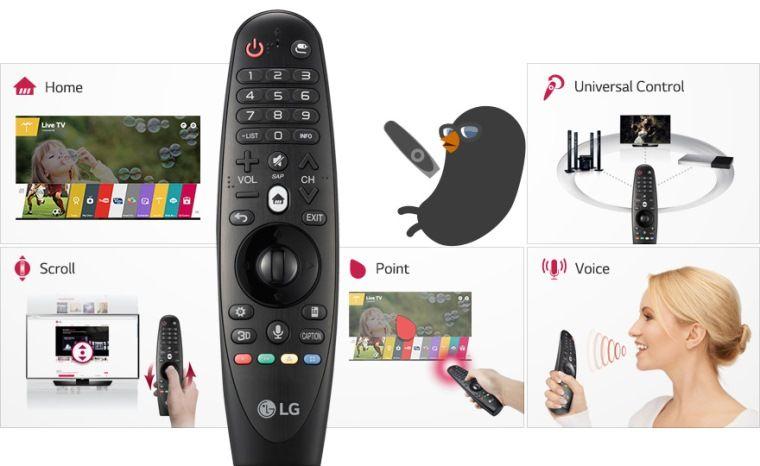 Magic remote mang đến nhiều tính năng tiện ích