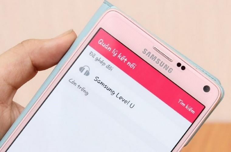 Bước 4: Lúc này trên điện thoại bạn sẽ hiện lên dòng chữ Samsung Level U, nhấp vào và chọn kết nối