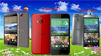 So sánh cấu hình bộ 3 smartphone tầm trung HTC vừa mới bán ra tại Thegioididong