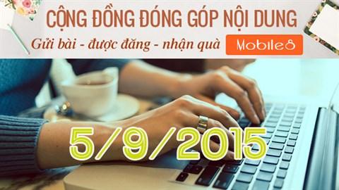 Chúc mừng thành viên cộng đồng Mobile8 đầu tiên đổi quà thành công và Thống kê tuần qua (5/9/2015)