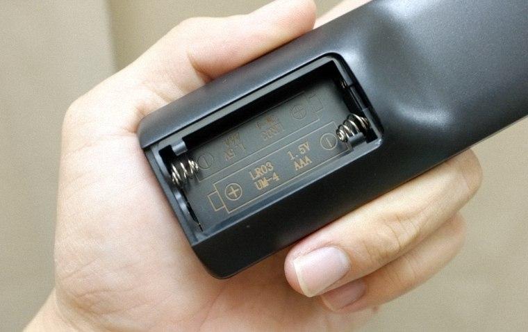 Kiểm tra cực pin hoặc thay pin mới cho remote