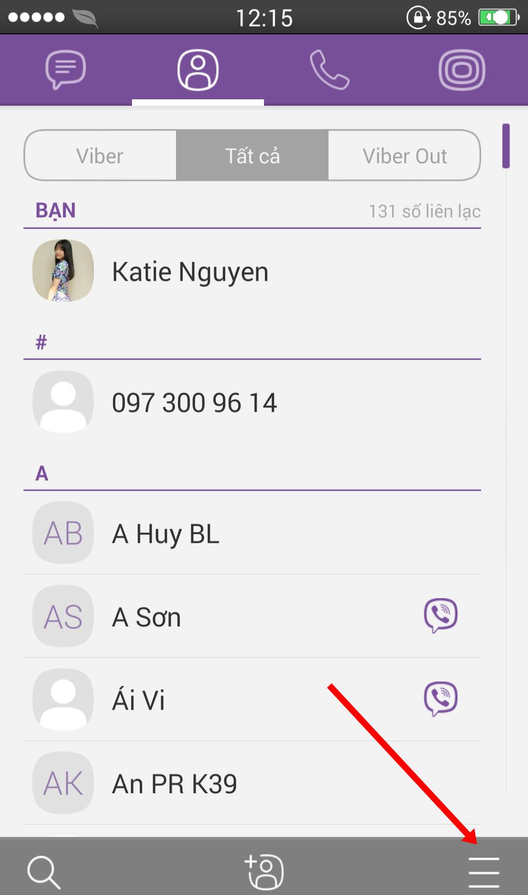 Ẩn trạng thái online trên Viber 1